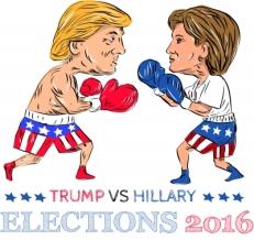 """Trump Vs Hillary 2016 Election Boxing"""
