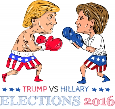 """Trump Vs Hillary 2016 Election Boxing"""