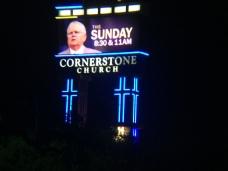 Cornerstone Church Sign